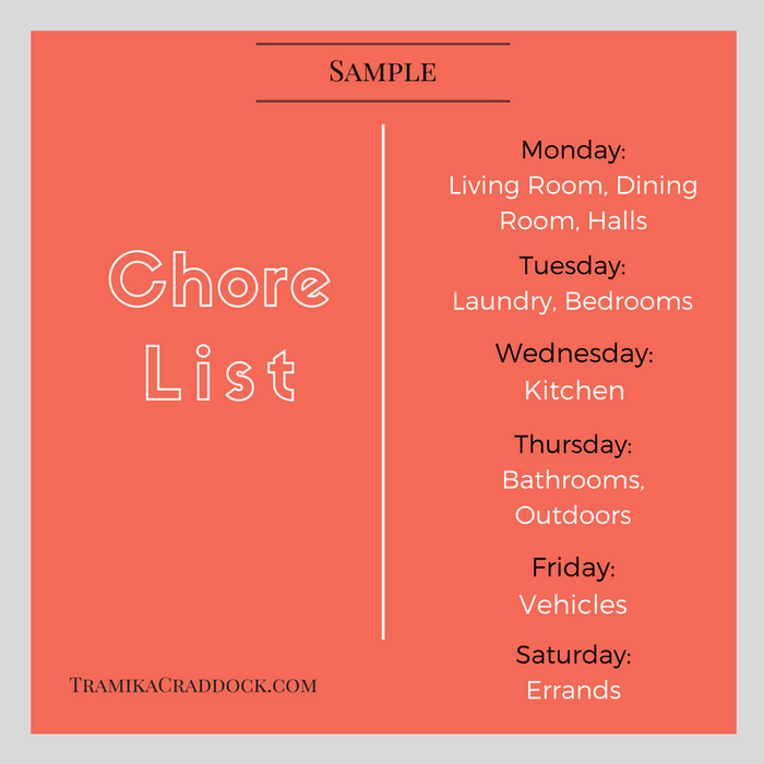 Chore List Sample