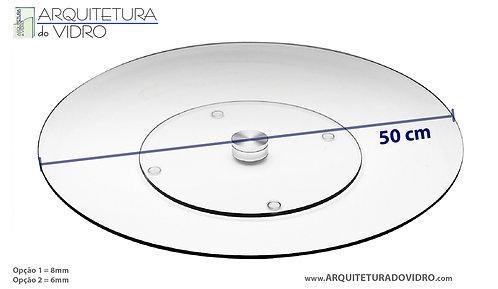 Prato giratório 50cm 6mm