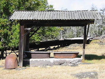 Pauahi Bathing Shed, Cowboy Cabins, Mauka Hawaii Cabins, Sherwood Greenwell, Kealakekua Ranch