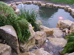 pond waterfall Surrey