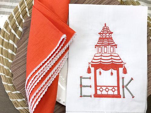 Pagoda Pavilion Linen Towel