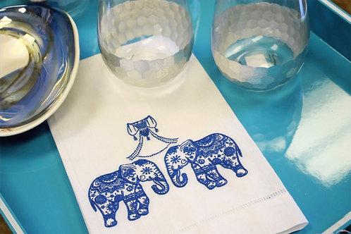 Elephant Twins Guest Towel