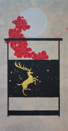 일월몽유도-사슴 Deer