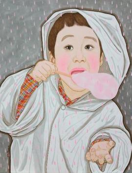 구름이 달콤한 날(분홍비) Sweet cloud day