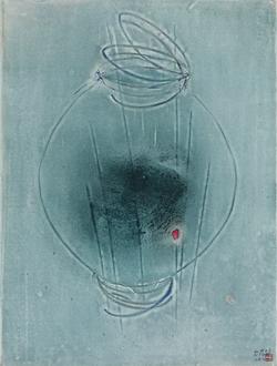 흔적 Traces - Blue moon jar