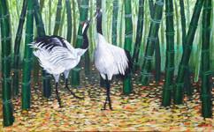 죽학도 Bamboo and crane