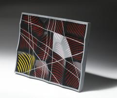 오석에 상감 inlay on obsidian 38×29×3cm, 2020
