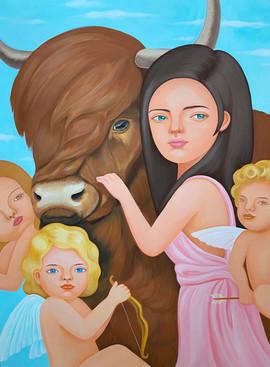 황소와 여인 Ox and woman