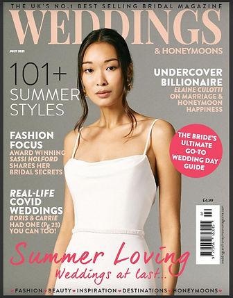 Weddings and Honeymoon magazine cover Ju