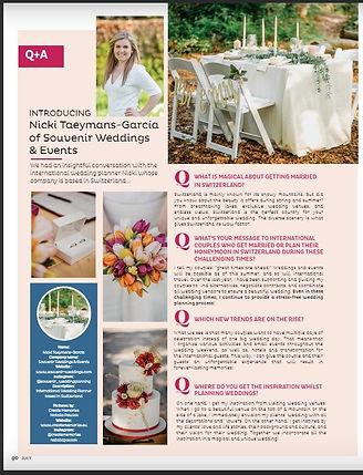 Weddings and Honeymoon Magazine Souvenir