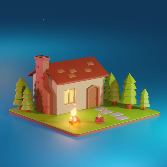 Low Poly Forester House