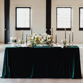Old Meets New Emerald & Gold Wedding Inspiration