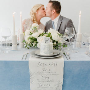 Dusty Blue Winter Wedding Inspiration