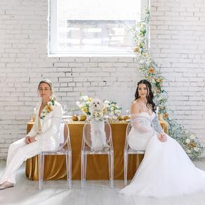 Bold Modern Mustard Wedding Inspiration