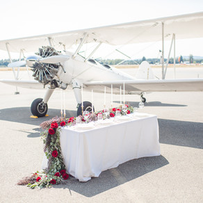 Americana Wedding Inspiration at the Olympic Museum of Flight