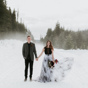 Dark & Moody Winter Wedding Inspiration