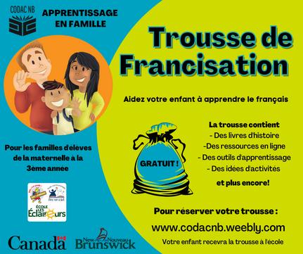 Trousse de francisation - Fredericton et Oromocto