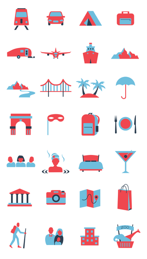 Travel Icon Library