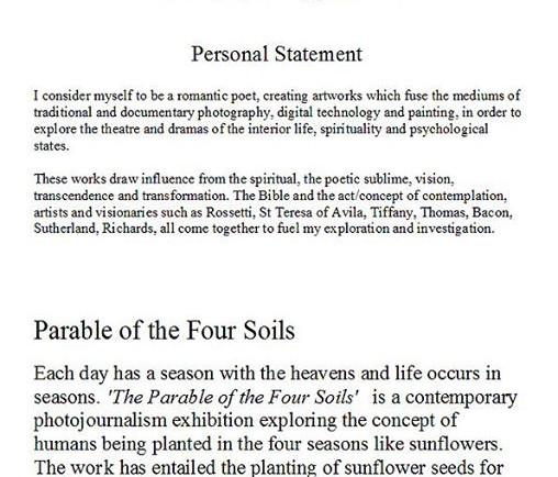 Exhibition_   Personal Statement