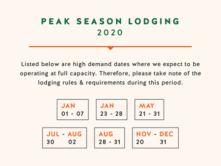Peak Season Lodging