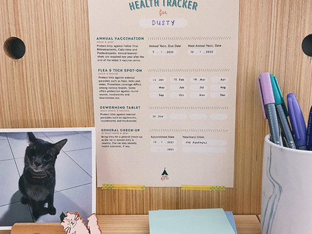 Cat Health Tracker Printable Freebie