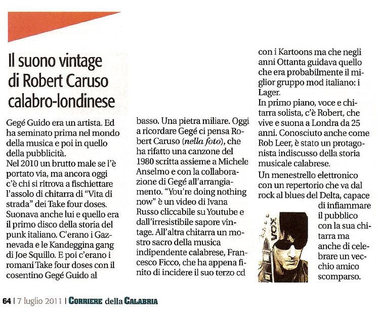 Corriere Della Calabria article, July 20