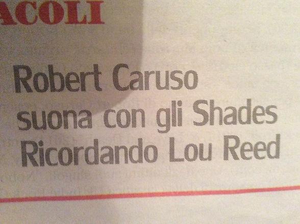 Lou Reed Memorial Concert newspaper anno