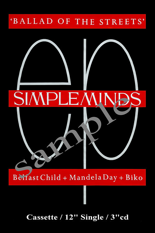SIMPLE MINDS - PROMO POSTER