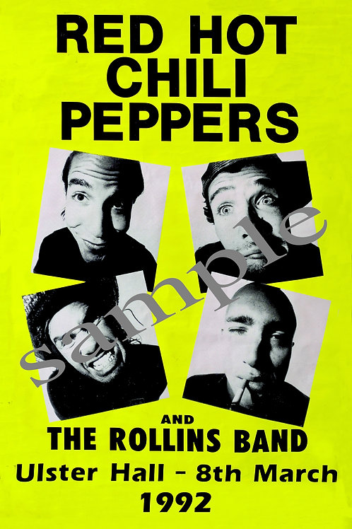 RED HOT CHILI PEPPERS - CONCERT POSTER - A4