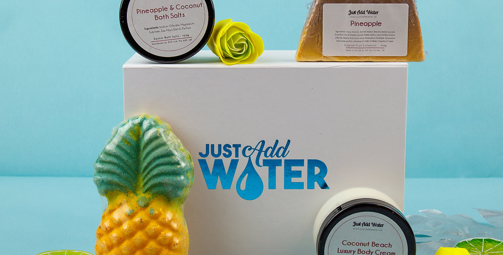 Pineapple & Coconut Bath Box