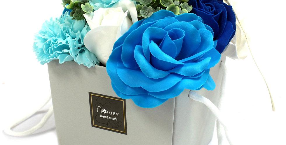 Blue Soap Flower Bouquet
