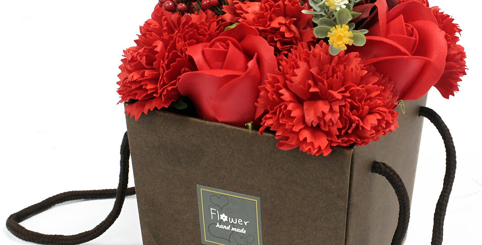 Red Rose & Carnation Bouquet
