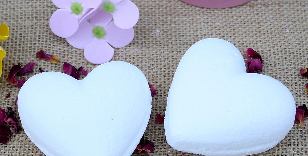 5x Love Heart Bath Bombs