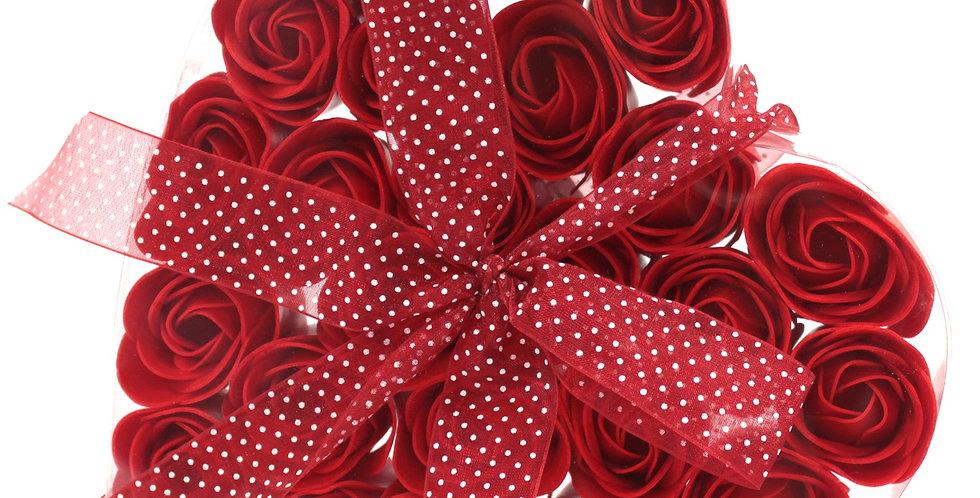 Soap Flower Heart Box