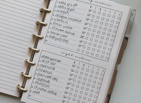 How I stay on track with my Routine Notepad