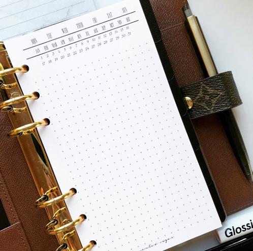 Administrative Dot Grid Notepaper