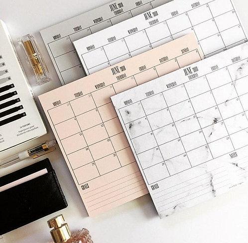 Monthly Calendar Deskpad - Modern