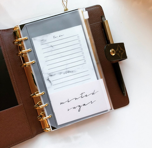 Clear Planner Zip Pouch