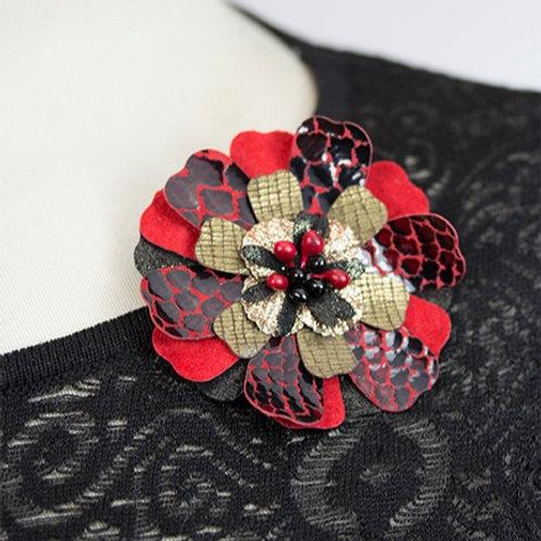 Large Red & Black Flower