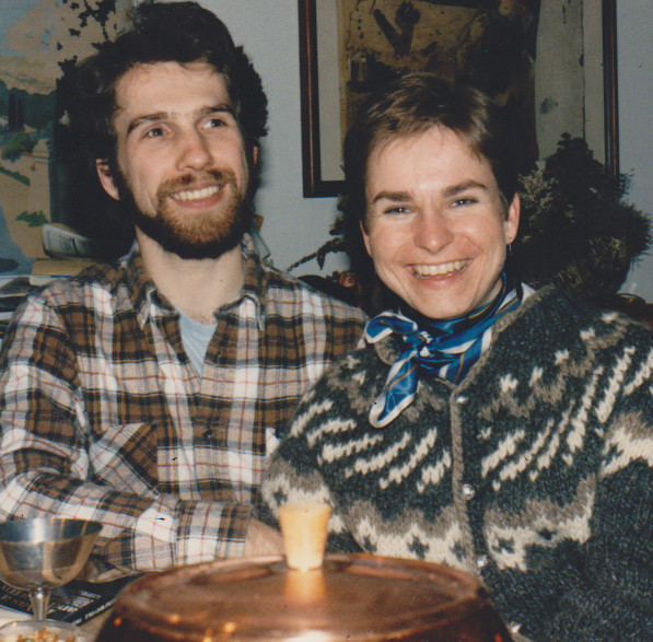 Al and I, New Years Eve, 1985.