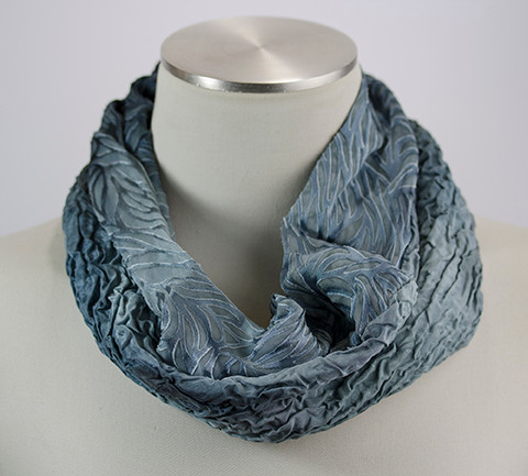 Very Eclectic Silk Cowl in the Color-Way Thunder