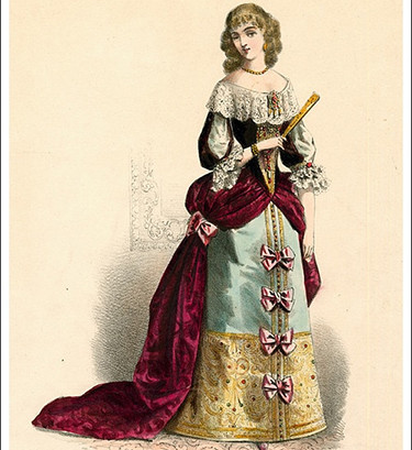 Woman's clothing from the time of Louis XIV