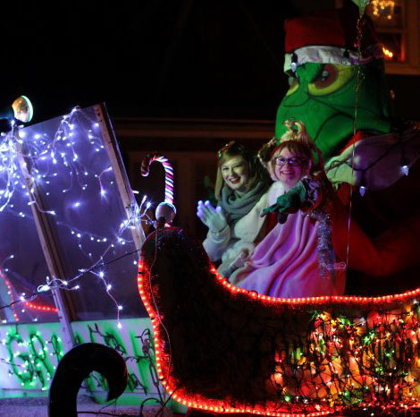 A float in the Lynn Ma Christmas Parade