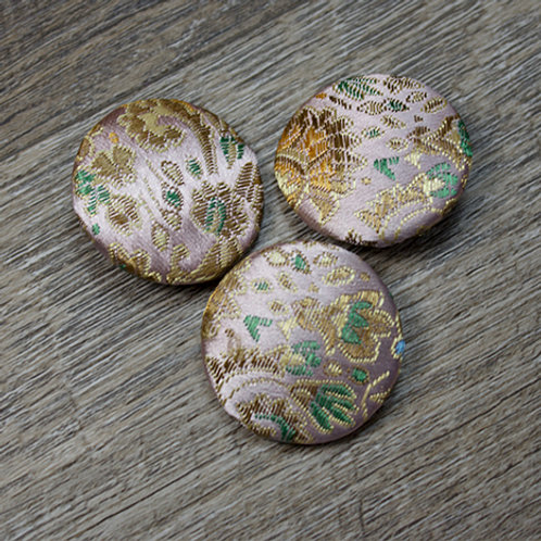 Pale Pink Floral Brocade Covered Buttons L45
