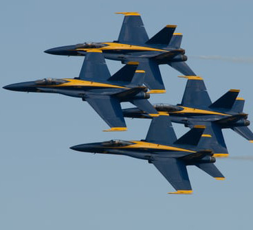 The Blue Angels, the iconic Navy flight team.