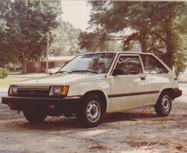 My cream 1983 Toyota Tercel.