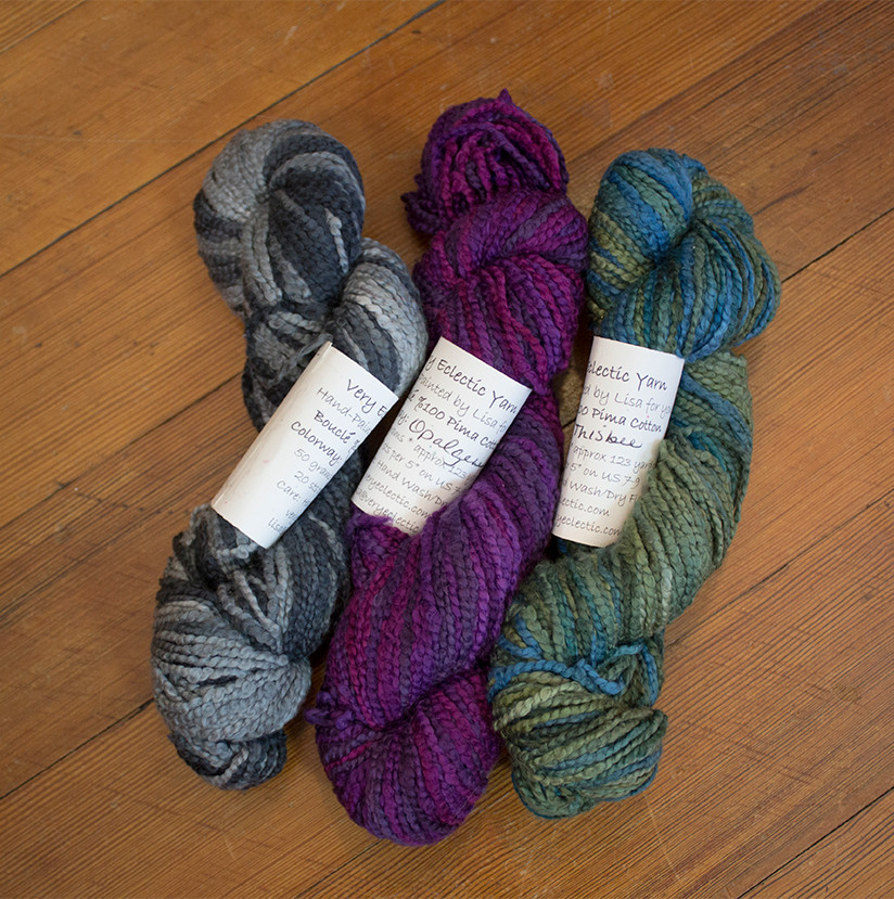 Cotton Bouclé yarn by Very Eclectic