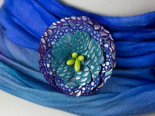 Med Blue Flower
