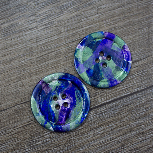 Hand-Painted Opal Antique Shell Buttons L60