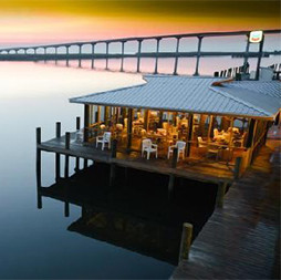 Caroline's Restaurant deck on the Apalachicola River
